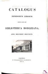 Catalogus Librorum Impressorum Bibliothecae Bodleianae in Academia Oxoniensi: Volume 4