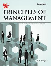 Principal of Management: for B.Com-I Semester-I