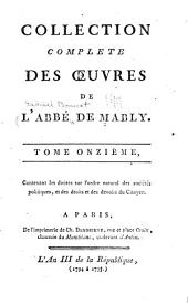 Collection complète de l'abbé de Mably: Doutes proposés aux philosophes économistes sur l'ordre naturel et essentiel des sociétés politiques. Des droits et des devoirs du citoyen