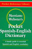 Merriam Webster s Pocket Spanish English Dictionary Book