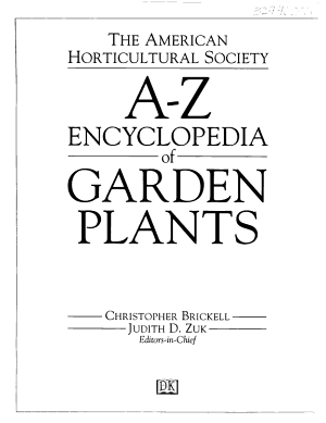 The American Horticultural Society A Z Encyclopedia of Garden Plants PDF
