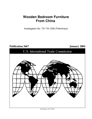 Wooden bedroom furniture from China investigation no  731 TA 1058  preliminary