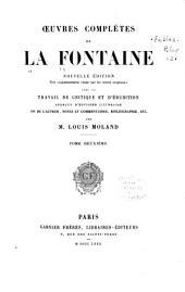Œuvres complètes de La Fontaine: Fables