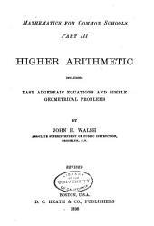 Mathematics for Common Schools: Higher arithmetic