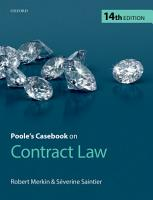 Poole s Casebook on Contract Law PDF