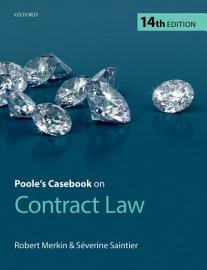 Poole S Casebook On Contract Law