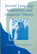 Second Language Acquisition and Linguistic Theory PDF