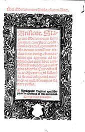 Aristote. Stagyrite Meteororum libri quatuor