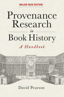 Provenance Research in Book History - a Handbook