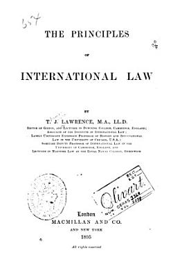 The Principles of International Law PDF