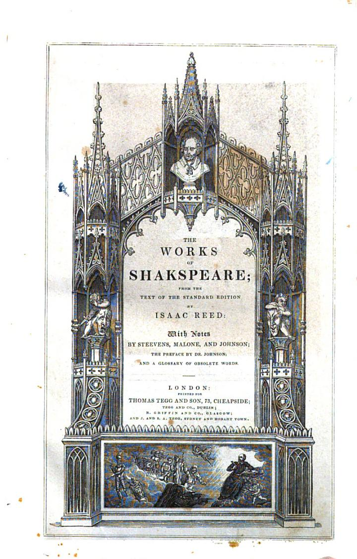 The Works of Shakspeare; from the Text of the Standard Edition by Isaac Reed