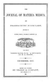 Journal of Materia Medica: Volume 1