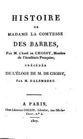Histoire de Madame la Comtesse Des Barres