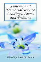 Funeral and Memorial Service Readings  Poems and Tributes PDF