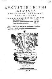Expositiones in Aristotelis libros de Historia animalium