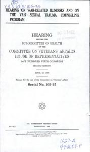Hearing on War related Illnesses and on the VA s Sexual Trauma Counseling Program PDF
