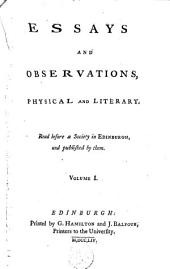Essays and Observations, Physical and Literary: Volume 1
