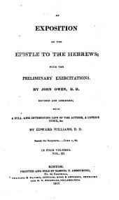 An Exposition of the Epistle to the Hebrews: With the Preliminary Exercitations, Volume 3