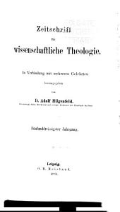 Zeitschrift für wissenschaftliche Theologie: Bände 35-36