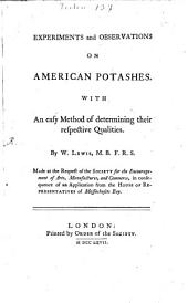 Experiments and observations on american potashes