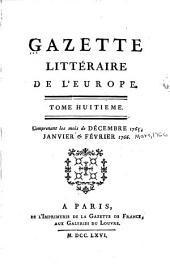 Gazette littéraire de l'Europe: Volume8