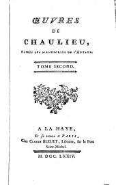 Oeuvres de Chaulieu: d'après les manuscrits de l'auteur, Volume2