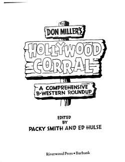 Don Miller s Hollywood Corral PDF