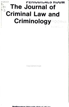 The Journal of Criminal Law   Criminology PDF