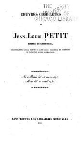 Oeuvres complètes de Jean-Louis Petit