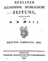 Berliner allgemeine musikalische Zeitung PDF