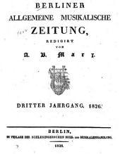 Berliner allgemeine musikalische Zeitung: Band 3