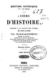Cours d'Histoire: Volume2