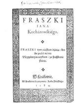 Fraszki Iana Kochanowskiego: Fraszki tym riaz̀kom dźieia