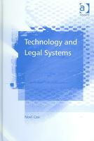 Technology and Legal Systems PDF