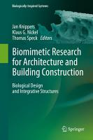 Biomimetic Research for Architecture and Building Construction PDF