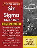 Six Sigma Green Belt Study Guide PDF