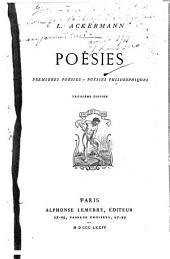 Poésies: premières poésies - poésies philosophiques