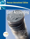 Cost Accounting a Managerial Emphasis Plus Myaccountinglab Xl 12 Months Access PDF