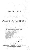 A Discourse Concerning the Divine Providence PDF