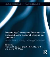 Preparing Classroom Teachers to Succeed with Second Language Learners PDF