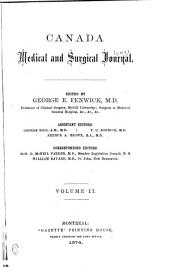 The Montreal Medical Journal: Volume 2