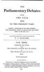 The Parliamentary Debates from the Year 1803 to the Present Time   28 PDF