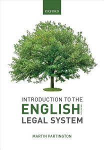 Introduction to the English Legal System 2019 2020 Book