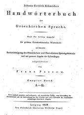 Handwörterbuch der griechischen sprache...