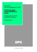 Proposals for safeguarding good scientific practice PDF