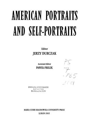 American Portraits and Self portraits PDF