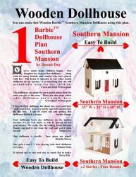 Barbie Dollhouse Plan Southern Mansion Book PDF