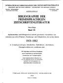 Bibliographie der fremdsprachigen Zeitschriftenliteratur PDF