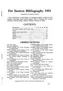 Far Eastern Bibliography PDF