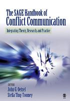 The SAGE Handbook of Conflict Communication PDF